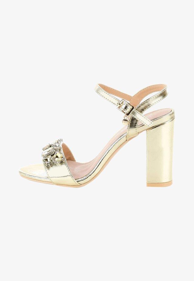 NERVESA - High heeled sandals - gold