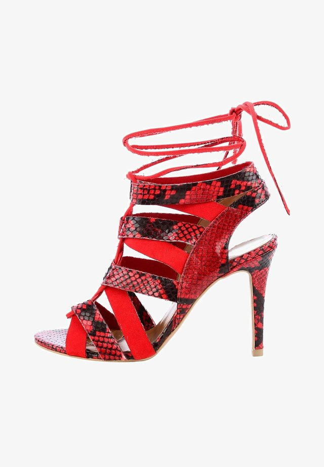 NOMADELFIA - High heeled sandals - red