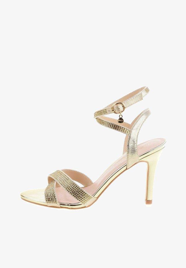 VILLARNO - Sandały na obcasie - gold