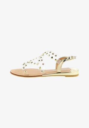 VERESENO - Sandals - platynowy