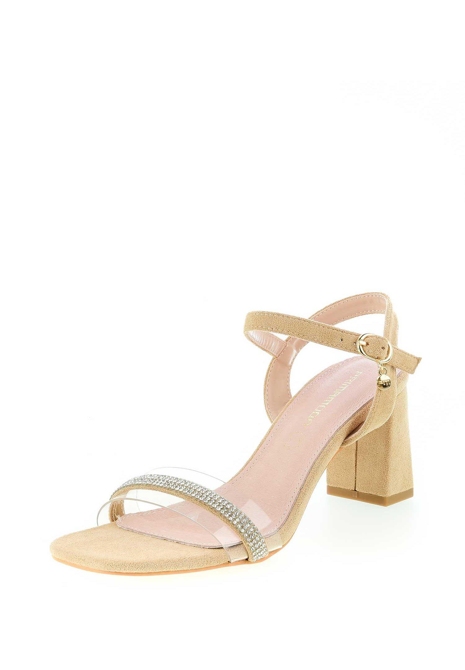 DELLONATO Sandaler med skaft beige