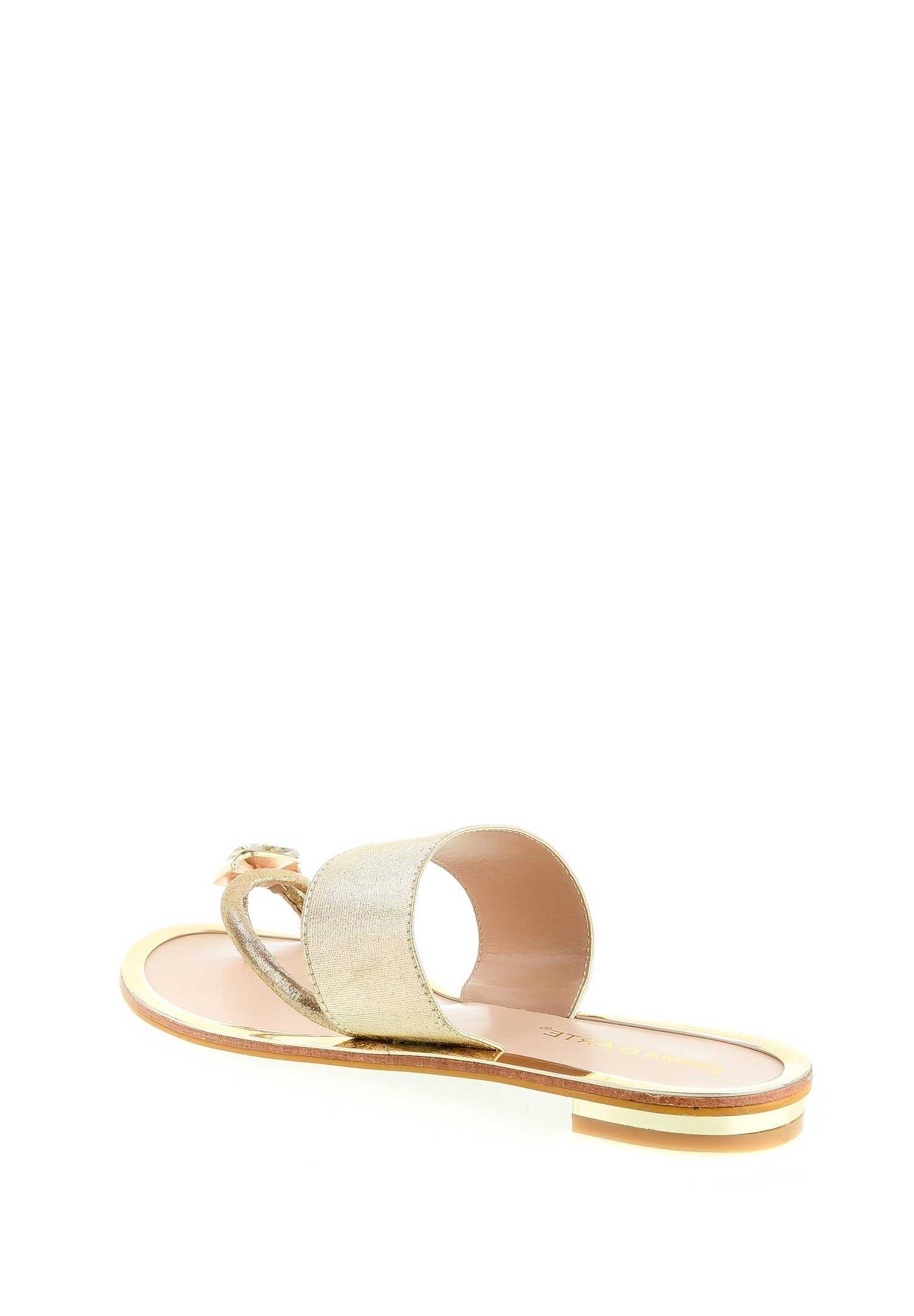 PRIMA MODA IROMITIANO - Sandaler m/ tåsplit - gold evl7R