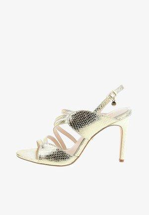 PORTANNA  - High heeled sandals - platynowy