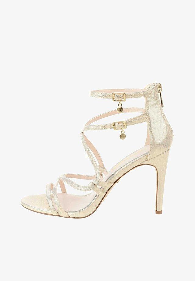 TERZO - High heeled sandals - platinum