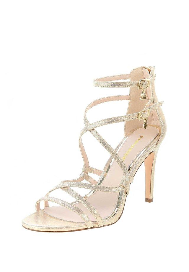 TERZO - High Heel Sandalette - platynowy
