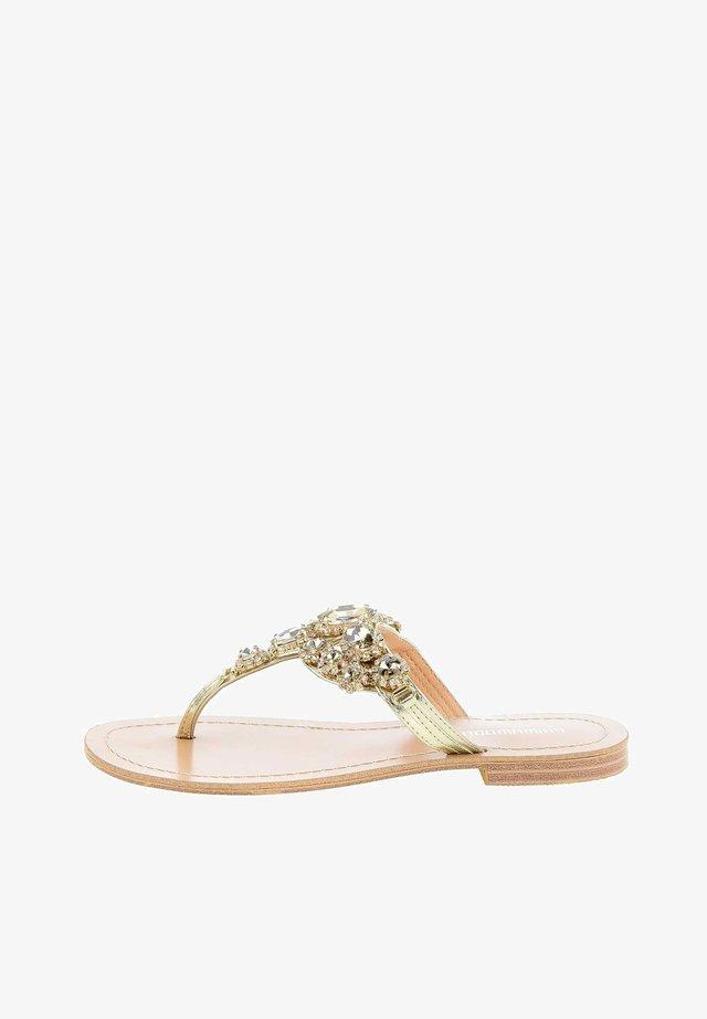 REGNANO  - T-bar sandals - platynowy