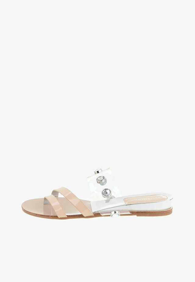 T-bar sandals - beżowy