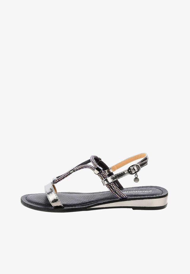 ALBAREDA - Sandaalit nilkkaremmillä - black