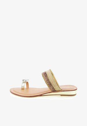 LAGGIO - T-bar sandals - gold