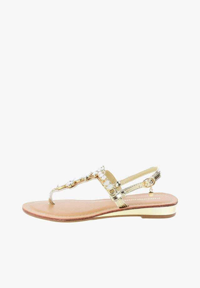 ZOLLA - T-bar sandals - gold