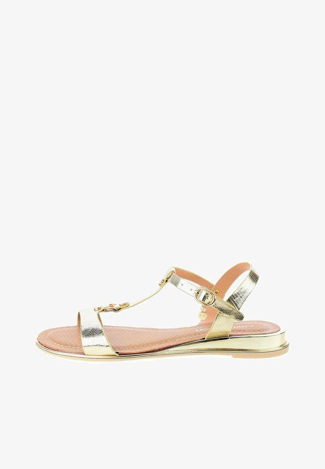 PARTANNA - Sandaalit nilkkaremmillä - gold
