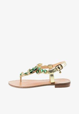 DELLA - T-bar sandals - Złoty