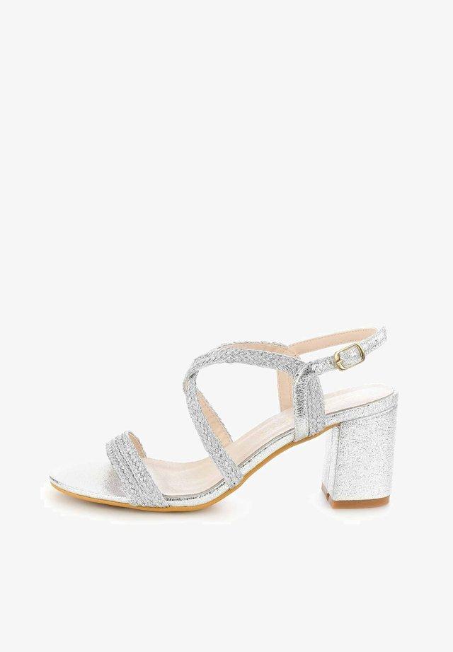 PERGANO - Sandals - silver