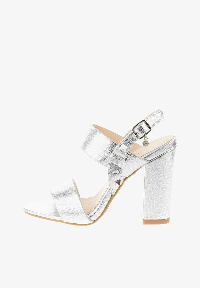 SOTTANO - High heeled sandals - silber