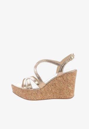 SIRMIONE - Wedge sandals - różowy