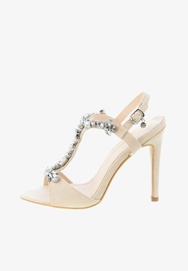 VAGLIODI - High heeled sandals - beige