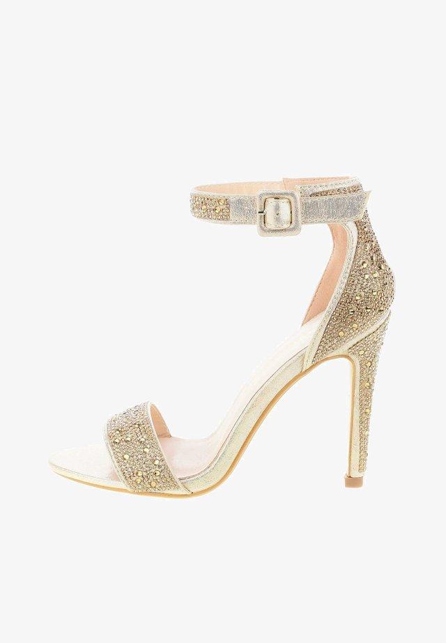CAMALDOLI - Ankle cuff sandals - platinum