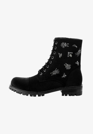 NUXIS - Lace-up ankle boots - black