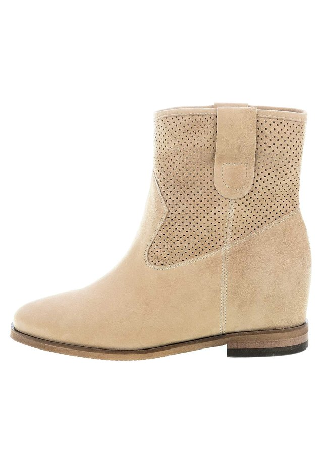 Ankle boot - beżowy
