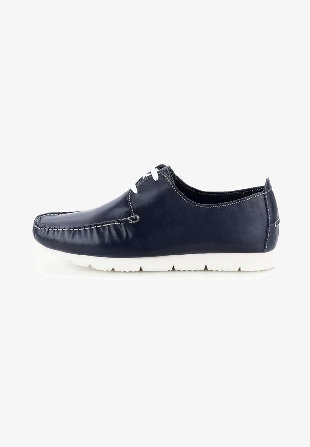 LANDRO - Buty żeglarskie - navy blue