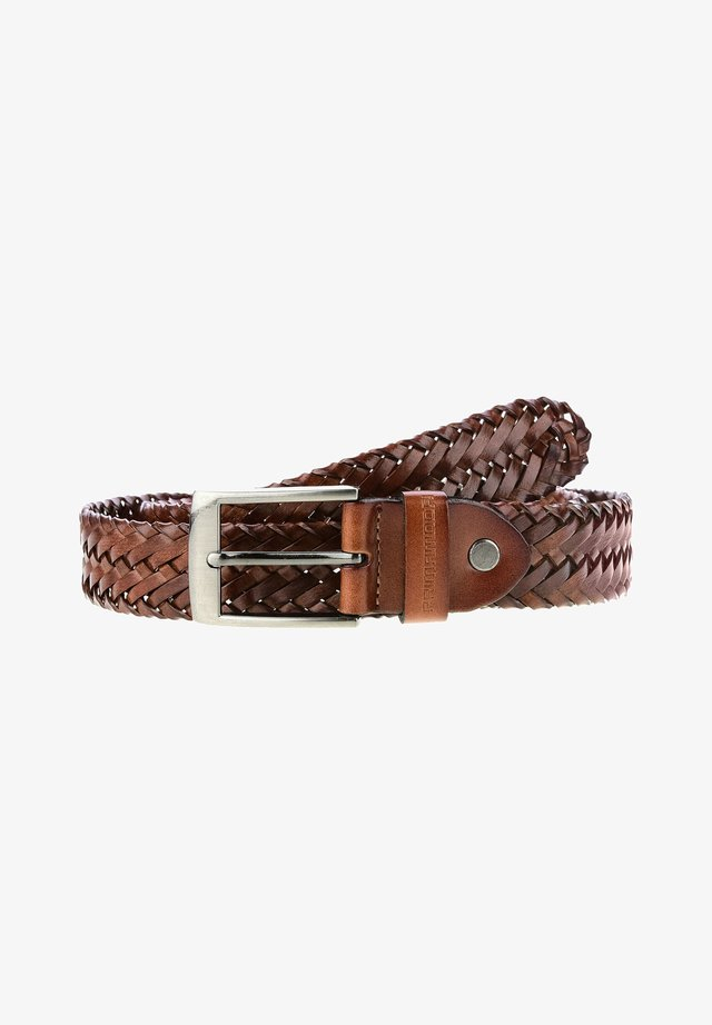 BARCIS - Braided belt - light brown