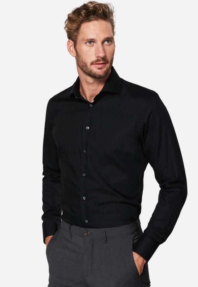 SLIM FIT - Zakelijk overhemd - zwart