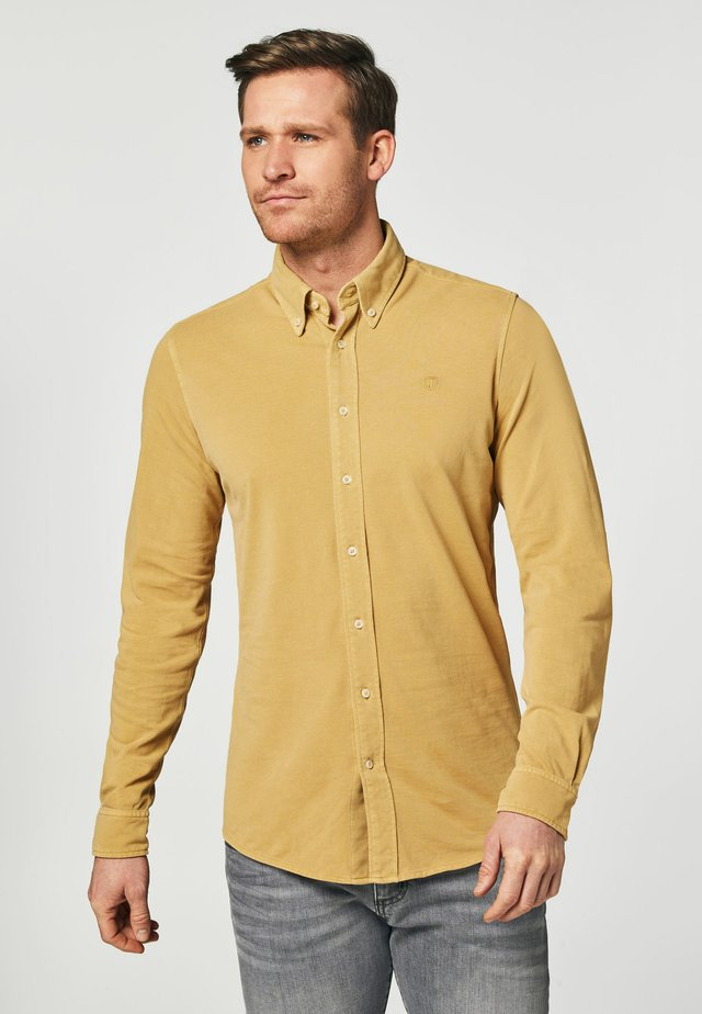 SLIM FIT  - Shirt - yellow