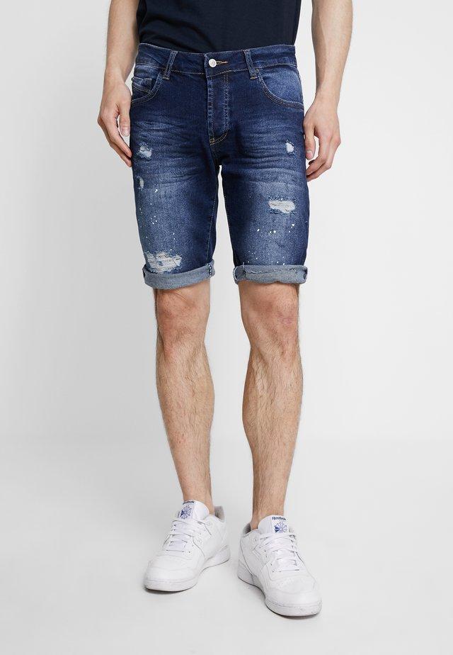 DISTRESSED - Jeans Shorts - bluewash
