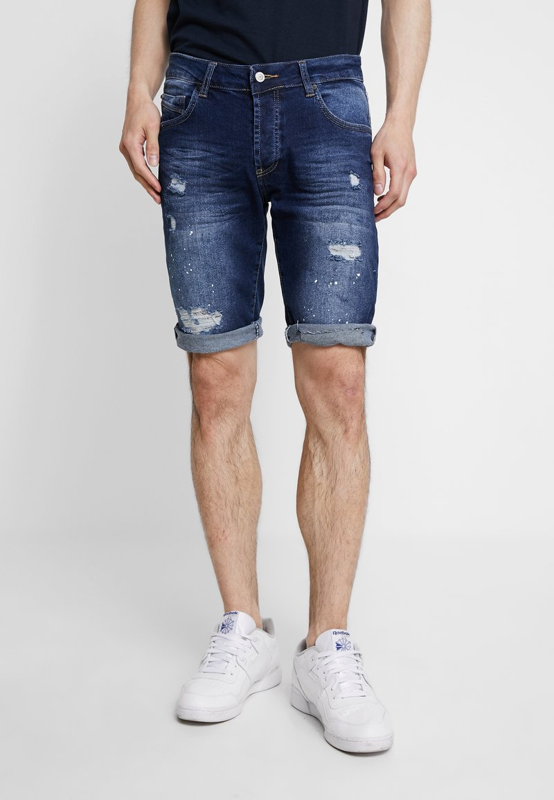 Project X Paris - DISTRESSED - Denim shorts - bluewash