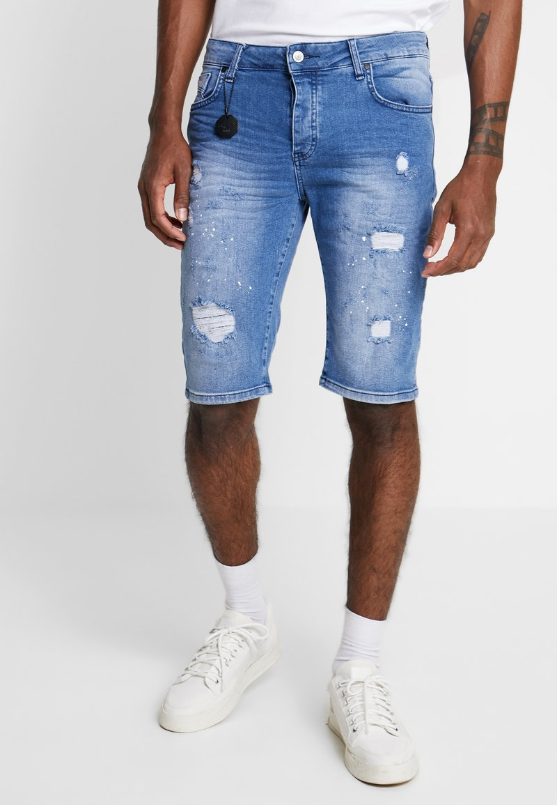 Project X Paris - DISTRESSED - Denim shorts - stonewash