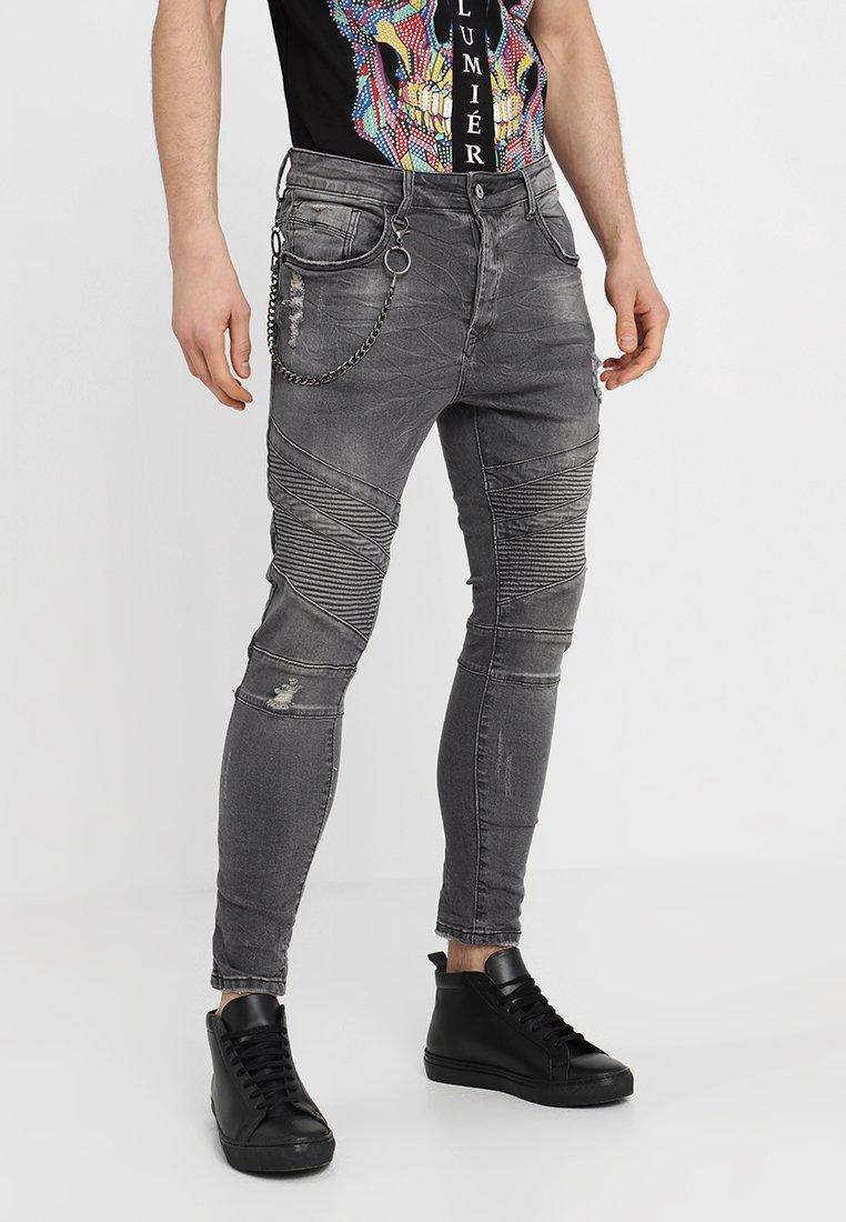 Project X Paris - BIKER  - Jeans Skinny Fit - grey