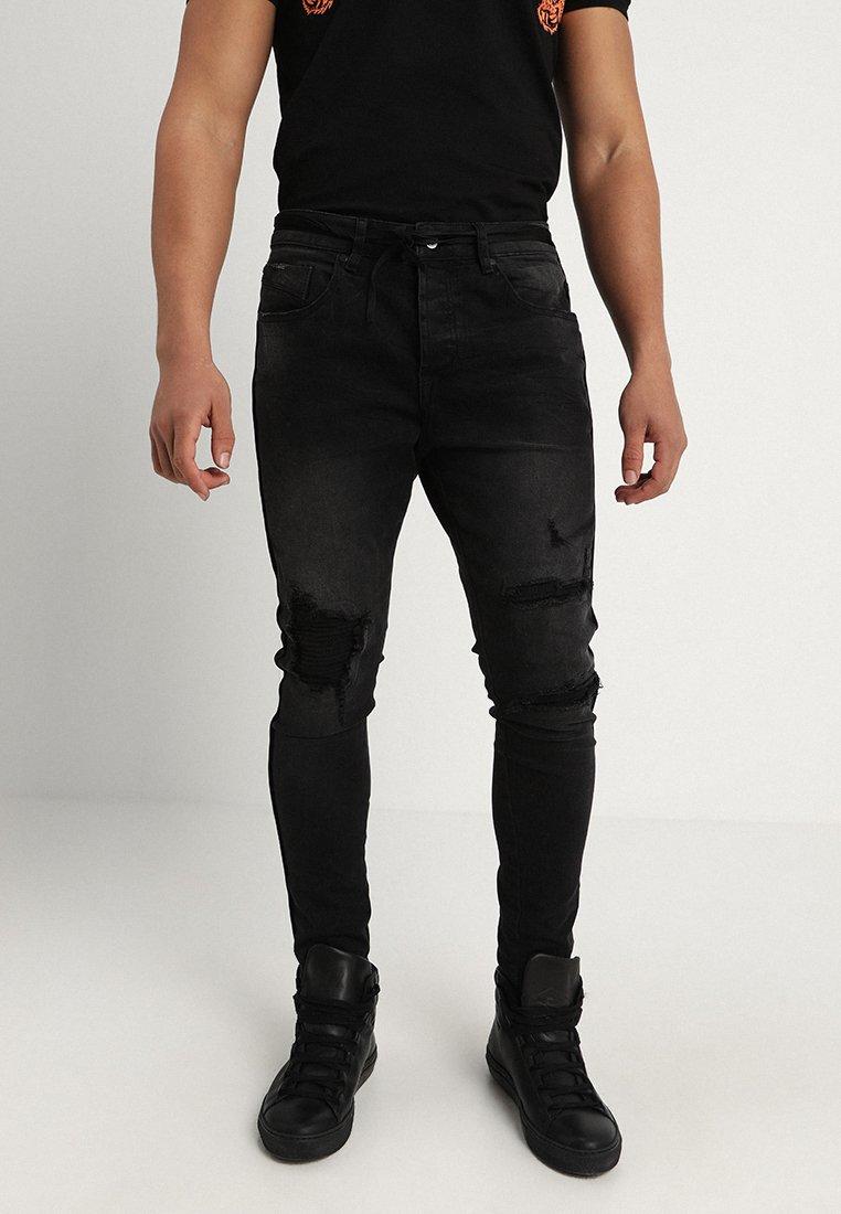 Project X Paris - SKINNY BIKER DETAIL - Jeans Skinny Fit - black