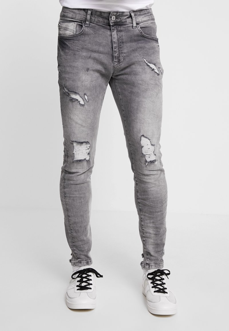 Project X Paris - DISTRESSED  - Jeans Skinny Fit - grey
