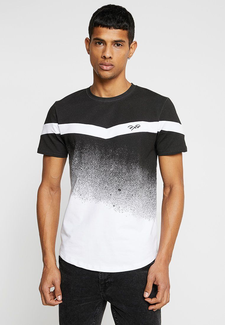 Project X Paris - GRADIENT TEE - Print T-shirt - white/black