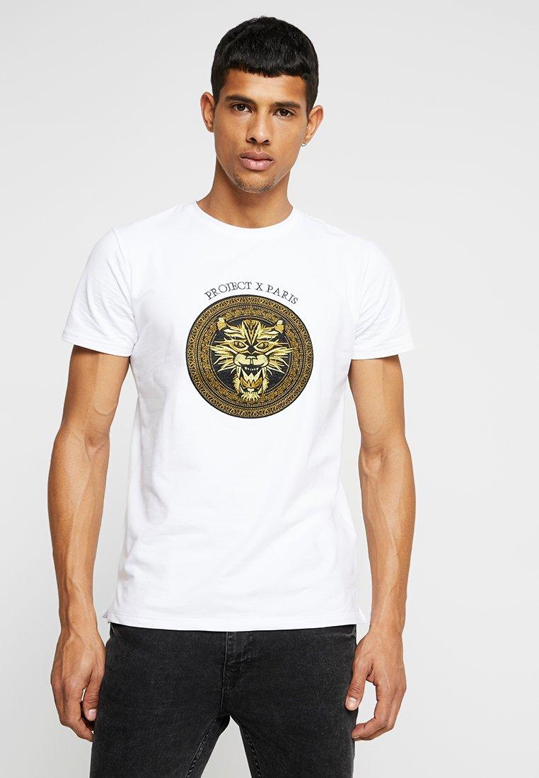 Project X Paris - CREST TEE - Print T-shirt - white