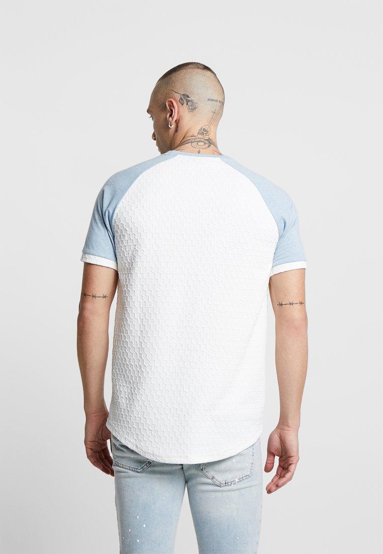 Project X Paris TEXTURE RAGLAN TEE - T-shirt imprimé white/blue