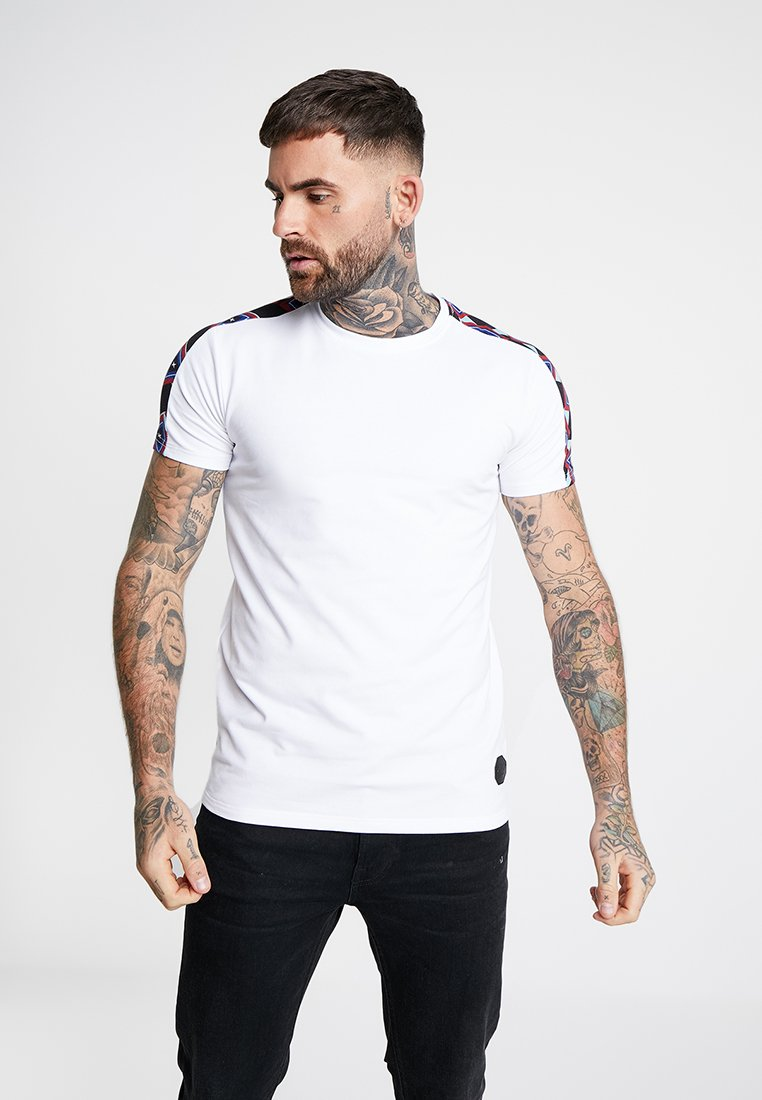 Project X Paris - PRINT SHOULDER TEE - T-Shirt print - white