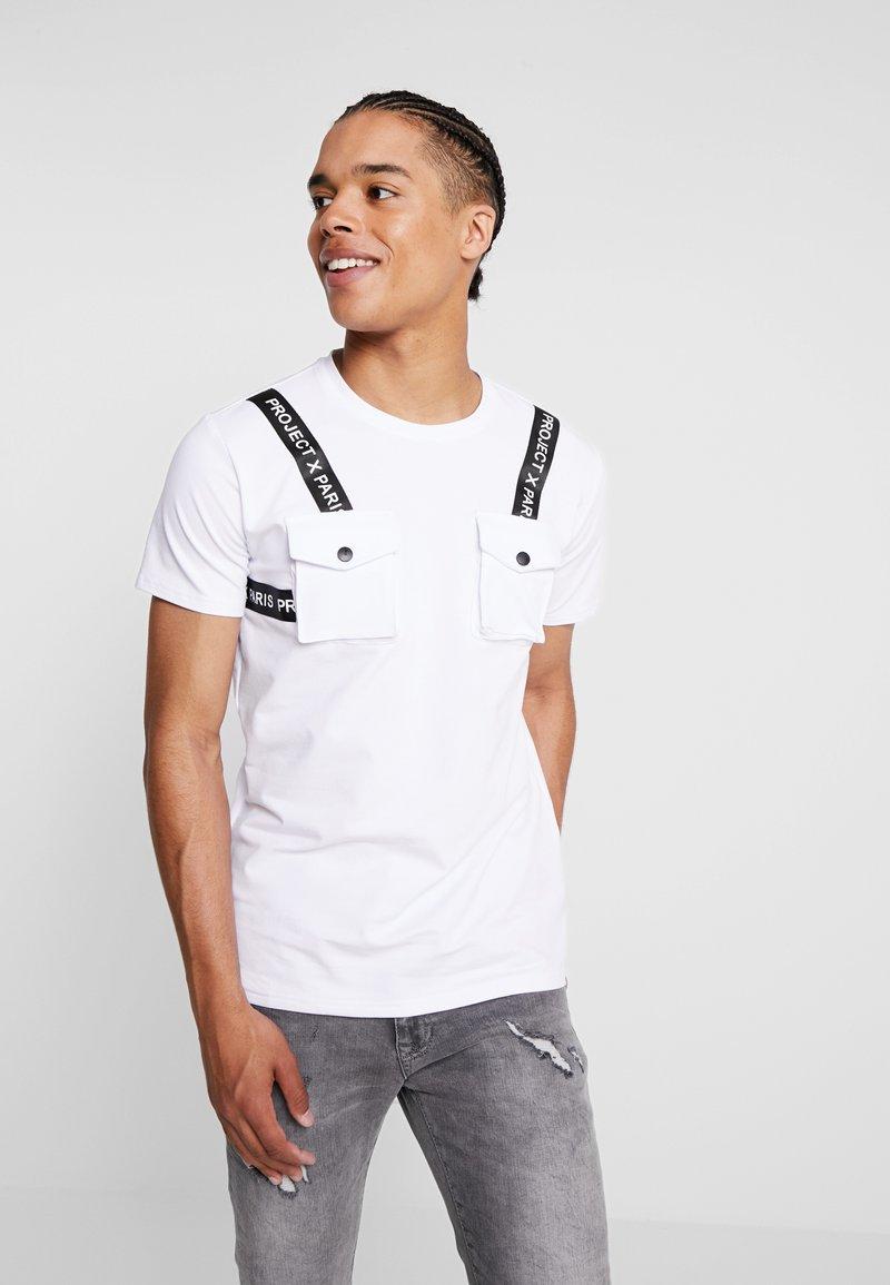 Project X Paris - HARNESS TEE - Print T-shirt - white