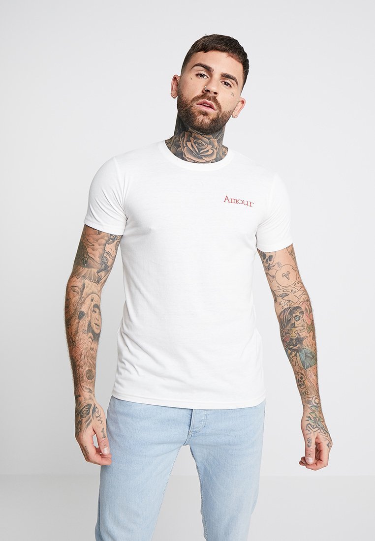 Project X Paris - EMBROIDERY SLOGAN TEE - Basic T-shirt - white
