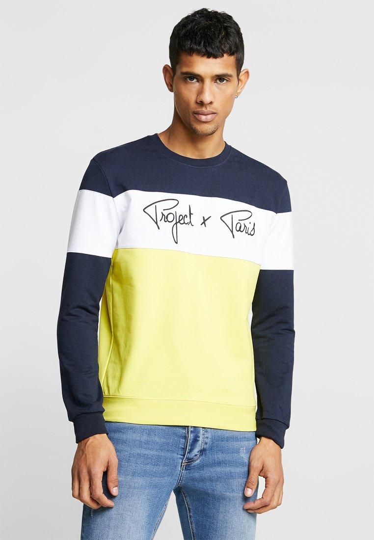 Project X Paris - COLOUR BLOCK - Sweatshirt - blue