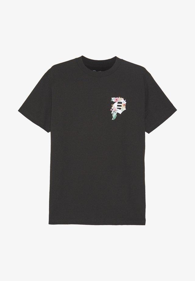 DIRT TROPICS TEE - T-shirt z nadrukiem - black