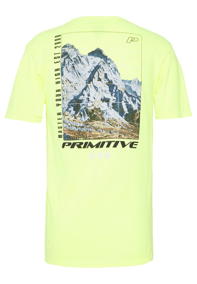 SUMMIT TEE - Print T-shirt - saftey green