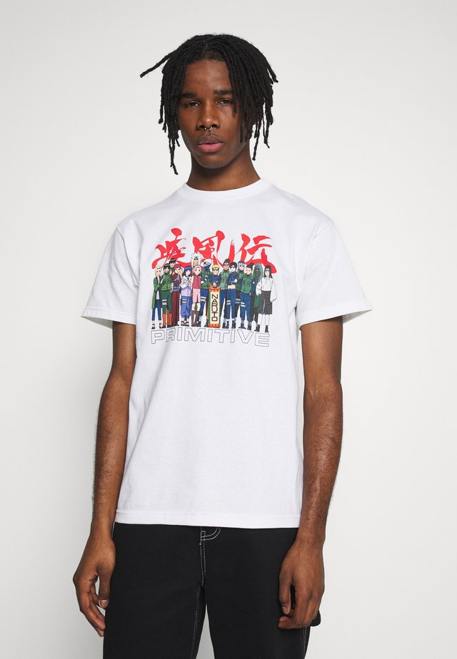 NARUTO LEAF VILLAGE TEE - T-shirt med print - white