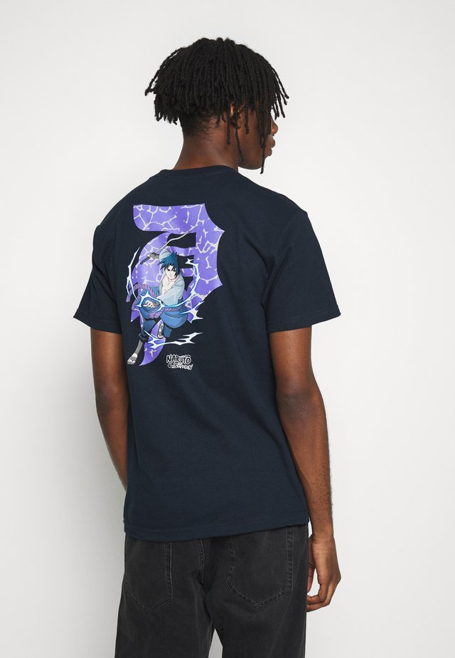 NARUTO SASUKE TEE - T-shirt med print - navy