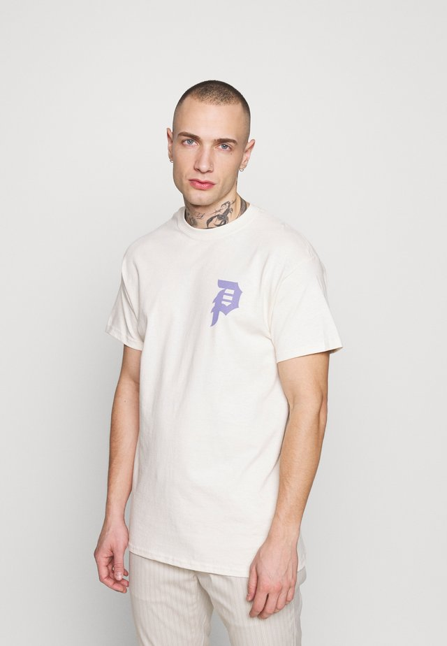 SHATTERED TEE - Print T-shirt - cream