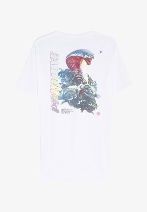 WARNING TEE - Print T-shirt - white