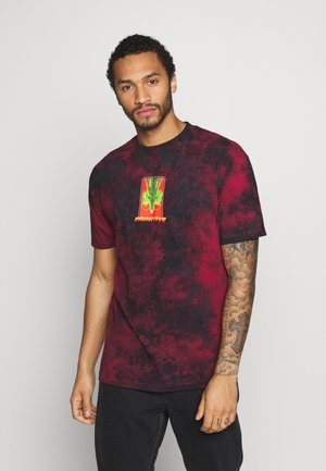 SHENRON WISH WASHED DRAGON BALL Z - T-shirt print - red/black wash