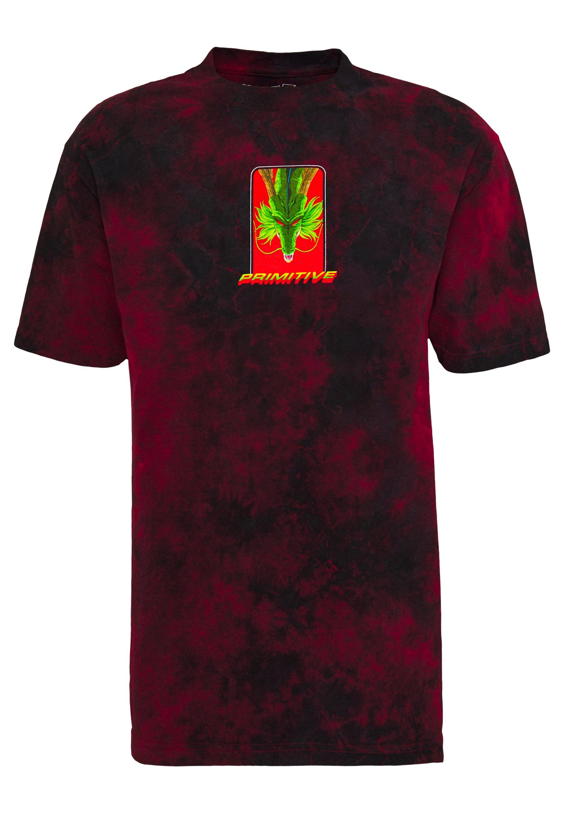Primitive Shenron Wish Washed Dragon Ball Z - T-shirt Imprimé Red/black Wash