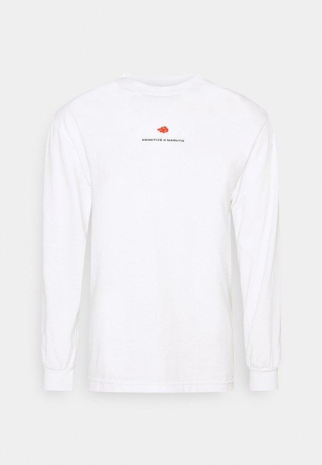 AKATSUKI CLAN TEE - Top sdlouhým rukávem - white