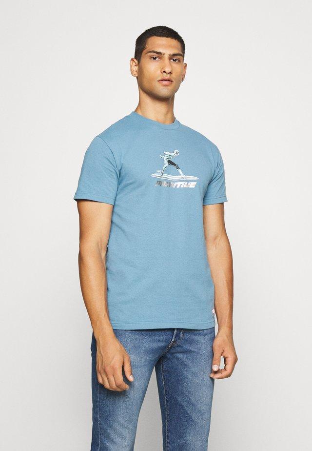 SURFER TEE - Print T-shirt - slate